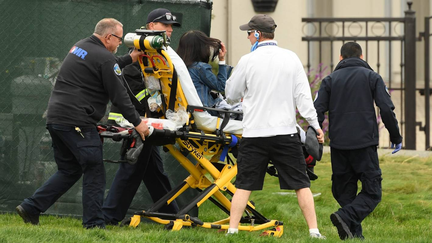 Five people injured by runaway golf cart at US Open