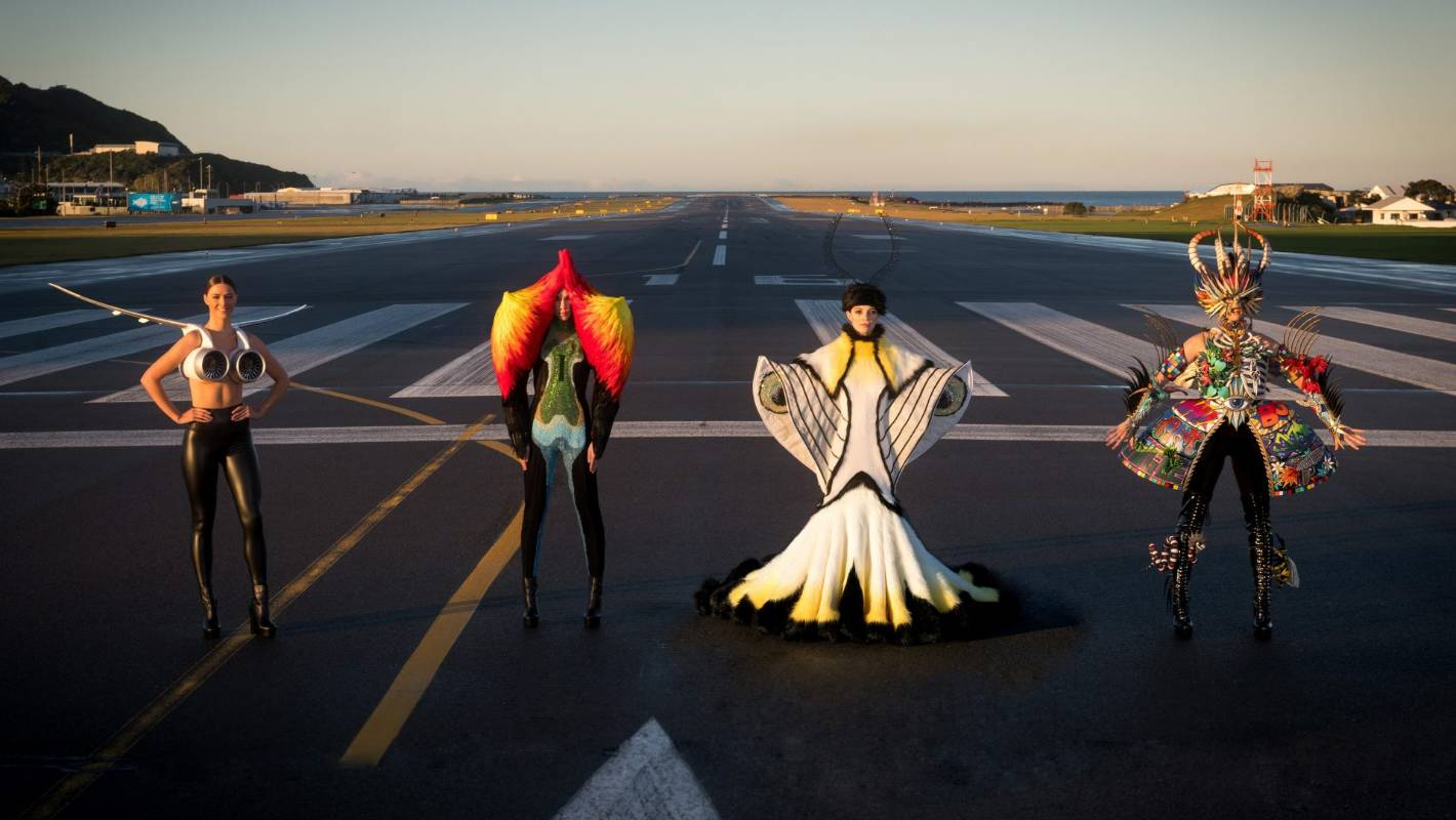 Wearable art hits the runway at Wellington Airport