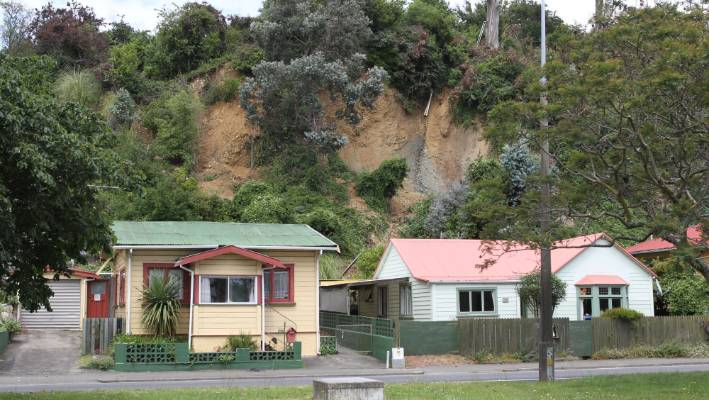 The one-in-250-year storm in 2011 caused slips at a number of properties on Haven Rd.