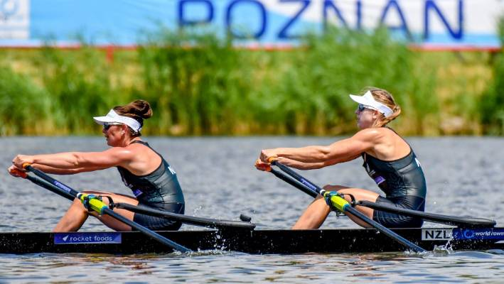 New Zealand women's boats win four gold at World Cup rowing