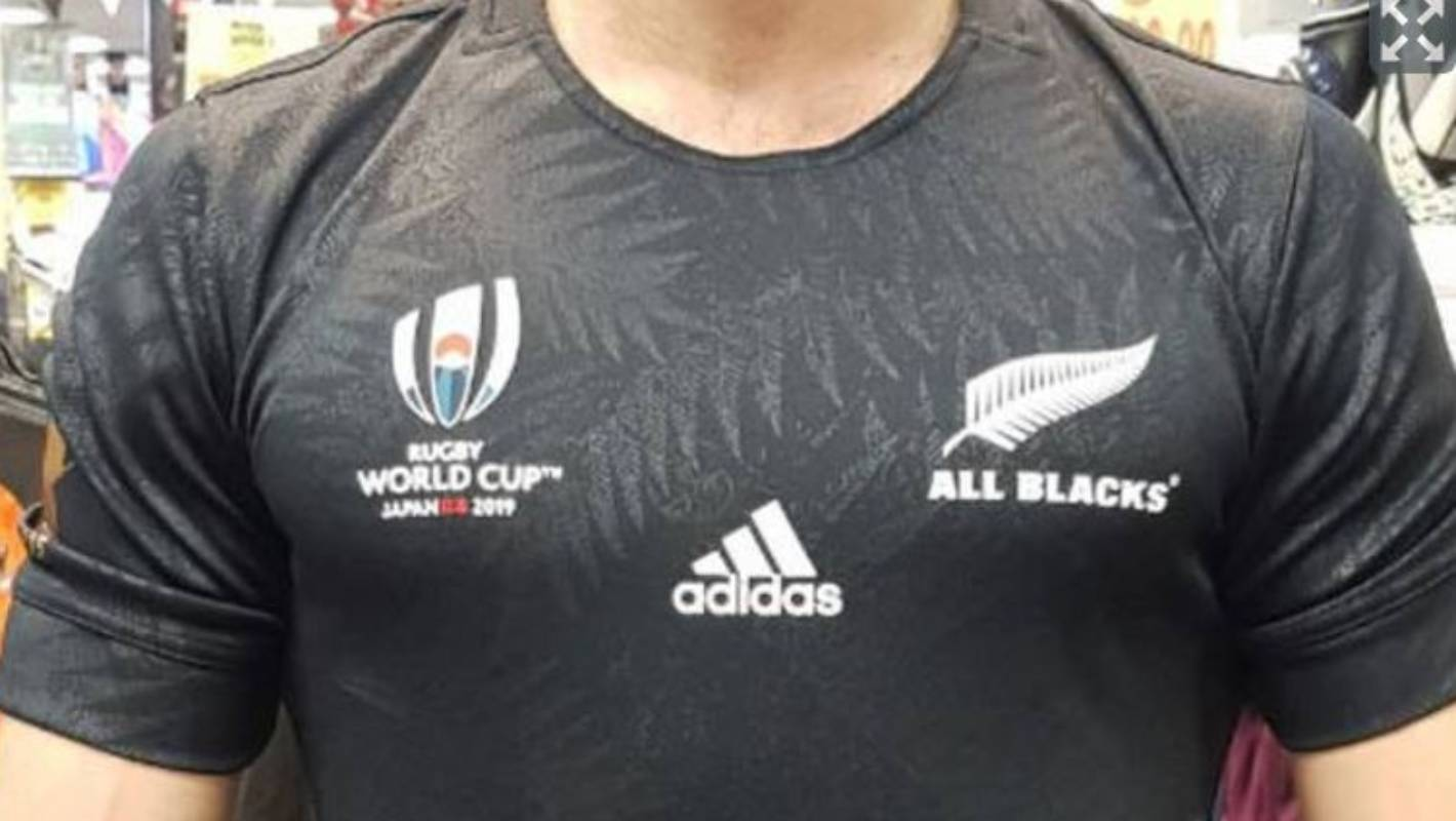 los angeles c7e2b cf4de Rugby World Cup 2019: Leaked All Blacks World Cup jersey ...
