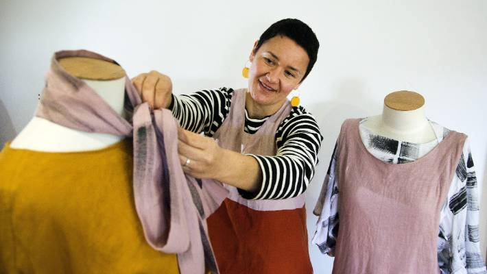 Marton designer Erana Kaa will be showing her collection at New Zealand Fashion Week in August. She has only been designing clothes for about two years.