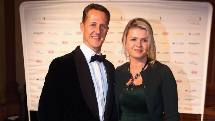 Michael and Corinna Schumacher together just one year before the Formula One legend's skiing accident.