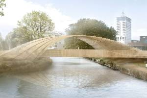 Warren and Mahoney's designs for an art bridge over the Avon River.