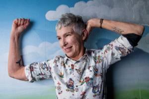 Australian grandmother-of-seven Andrea Phelan recently got her first tattoos.