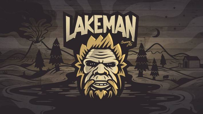 Lakeman Brewing's distinctive logo.
