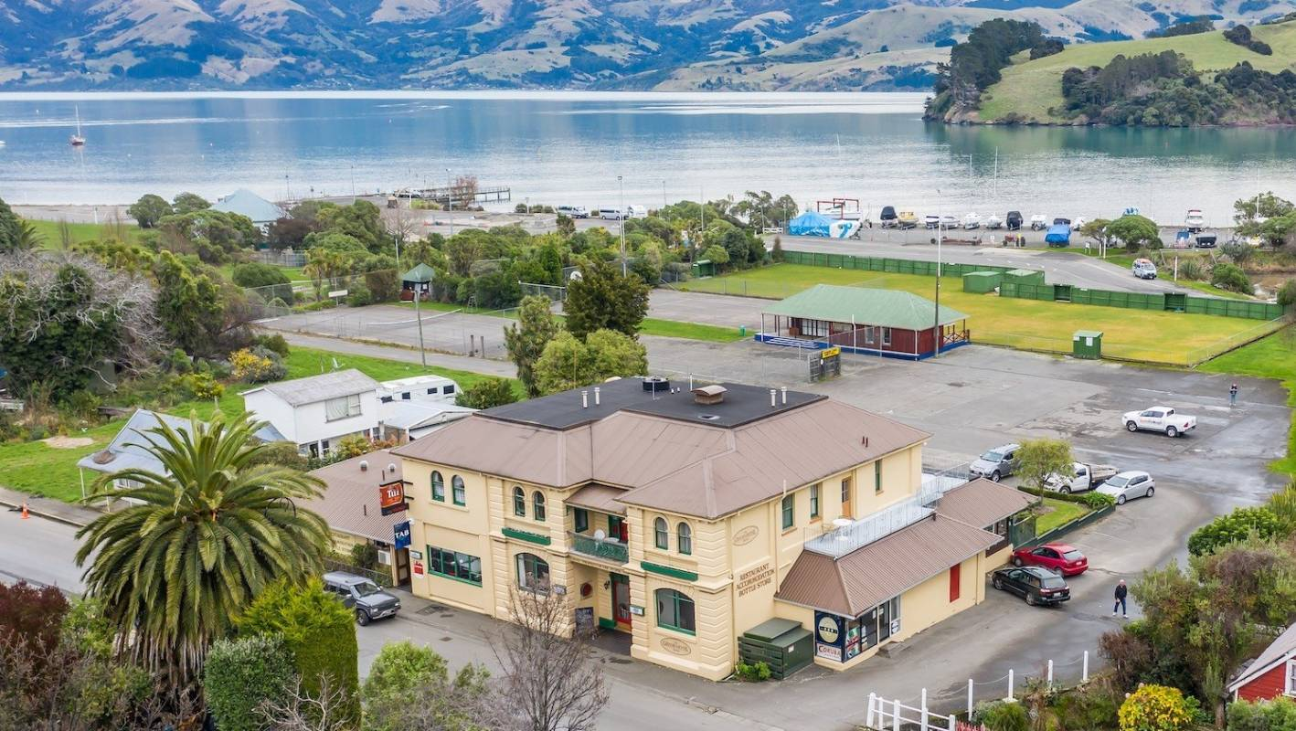Akaroa's landmark Grand Hotel with significant land for development is for sale