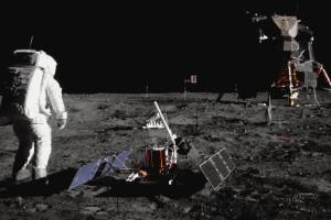 Buzz Aldrin walks by some scientific equipment on the surface of the Moon during the Apollo 11 mission. 50 years has ...