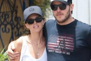 The Guardians of the Galaxy star was photographed out with his new wife Katherine Schwarzenegger