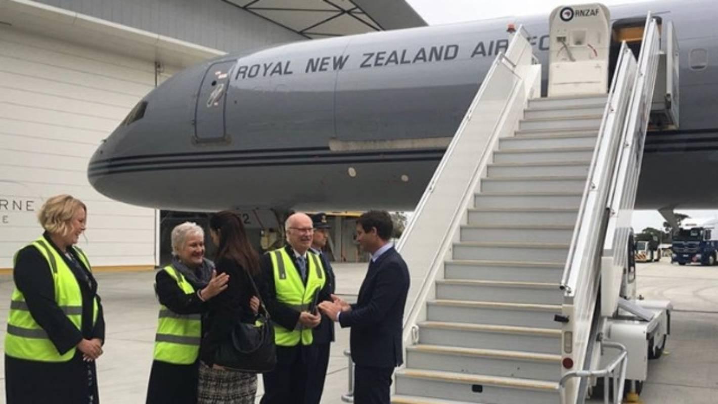 Jacinda Ardern stuck in Australia after plane breaks down