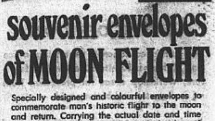 SuperValue shoppers were able to grab souvenir envelopes of the 'Moon flight'.