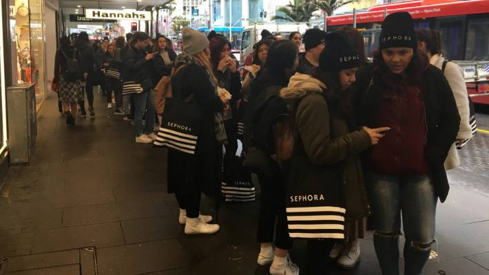 Sephora opens first NZ store, hundreds queue for hours to shop at