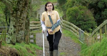 Anna Roguski has been recuperating at her parents' Stratford farm since she was hit by a car in the early hours of July ...