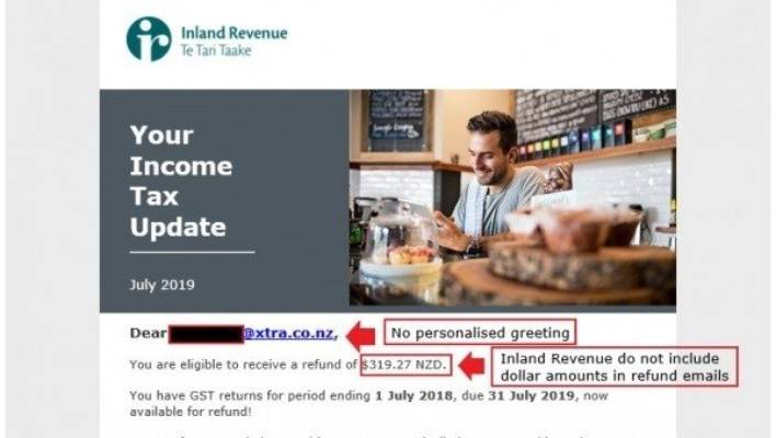 IRD scam targets 900 people with 'convincing' yet 'bogus' email