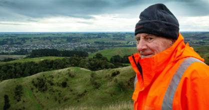 Graham Bolton is disappointed native bush on his property is at risk from the new Manawatū-Hawke's Bay highway.