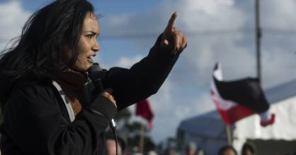 Pania Newton has been leading protests, on behalf of Save Our Unique Landscape, at Ihumātao.