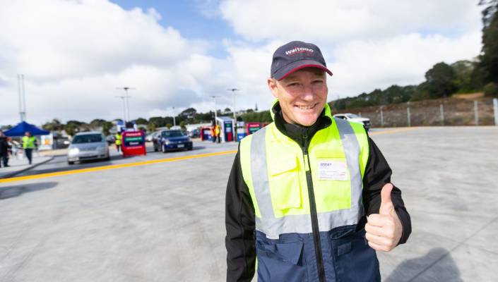 Waitomo Fuel has opened up in Moturoa on Breakwater Road. Managing Director Jimmy Ormsby pictured at the opening.