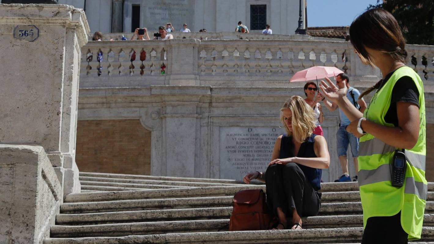Sitting on Rome's famous Spanish Steps can now cost you a serious