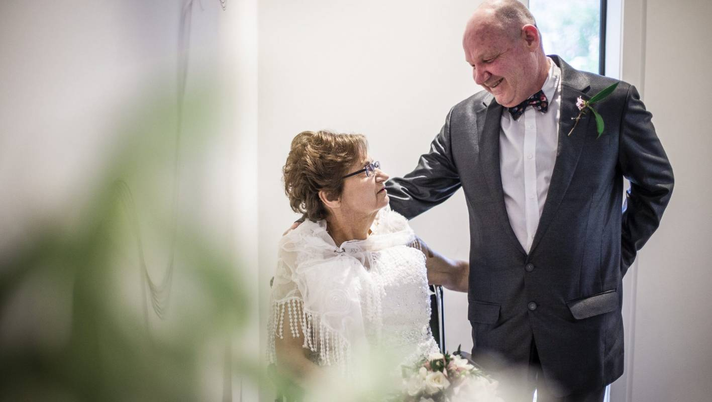 Terminally-ill bride weds partner of 30 years at Lower Hutt hospice