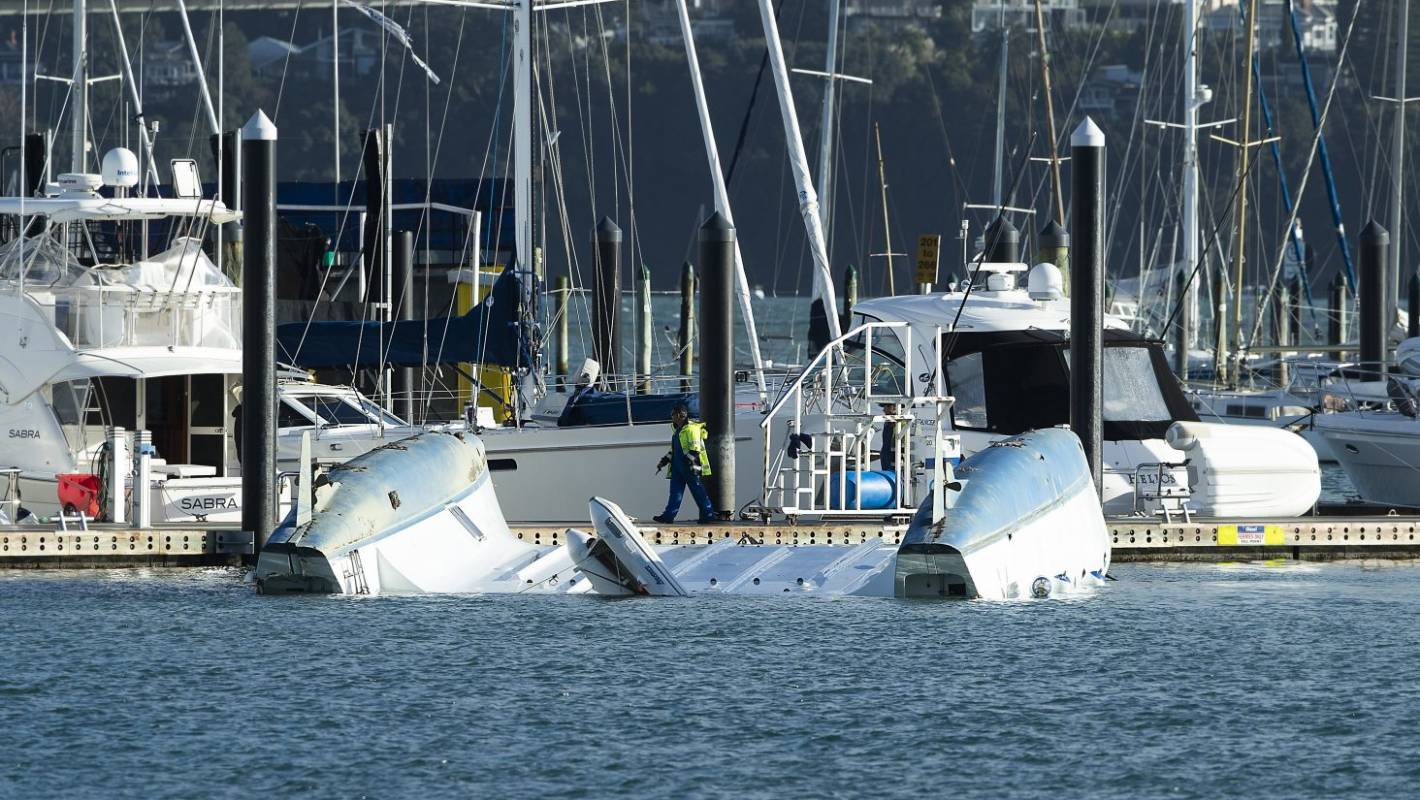Tornado damages catamaran, super yacht as it tears through Auckland CBD