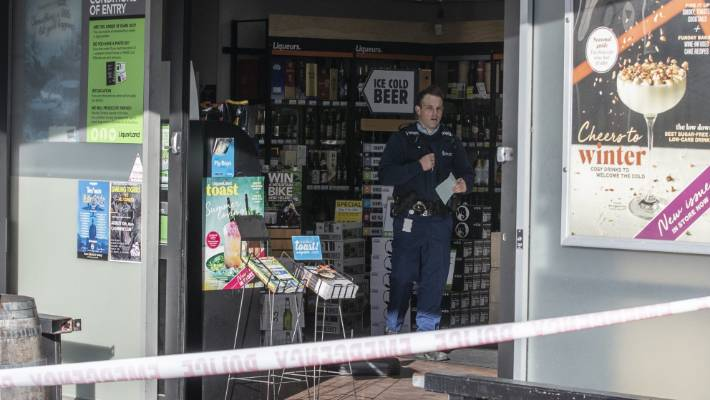 Four robbers storm liquor store in Christchurch | Stuff co nz