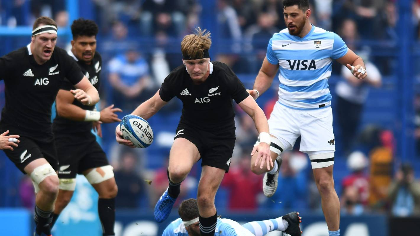 All Blacks utility back Jordie Barrett spills beans on black headband at Rugby World Cup
