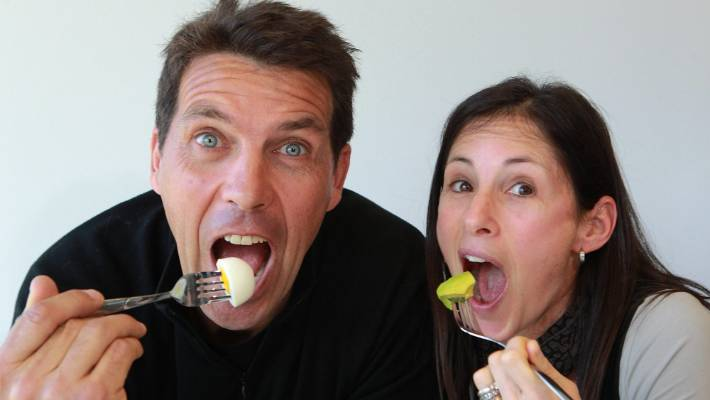 Low carbing: Prof Grant Schofield, here with dietitian Dr Caryn Zinn, leads LCHF in New Zealand.