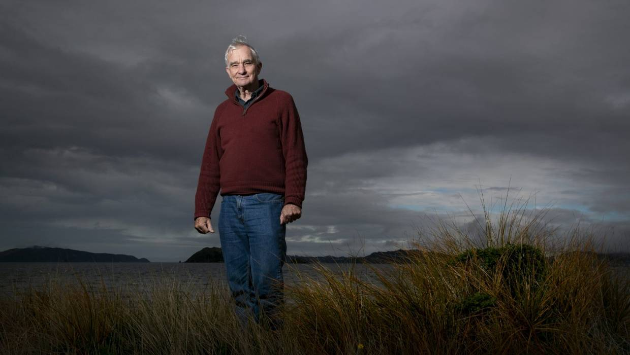 Dave Lowe has been involved in collecting atmospheric data in Wellington since before the term 'climate change' even existed.<br /> — Photograph: Ross Giblin.