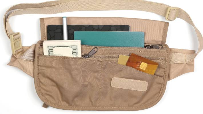 Money belt - it's a blatantly obvious strap around the waist.