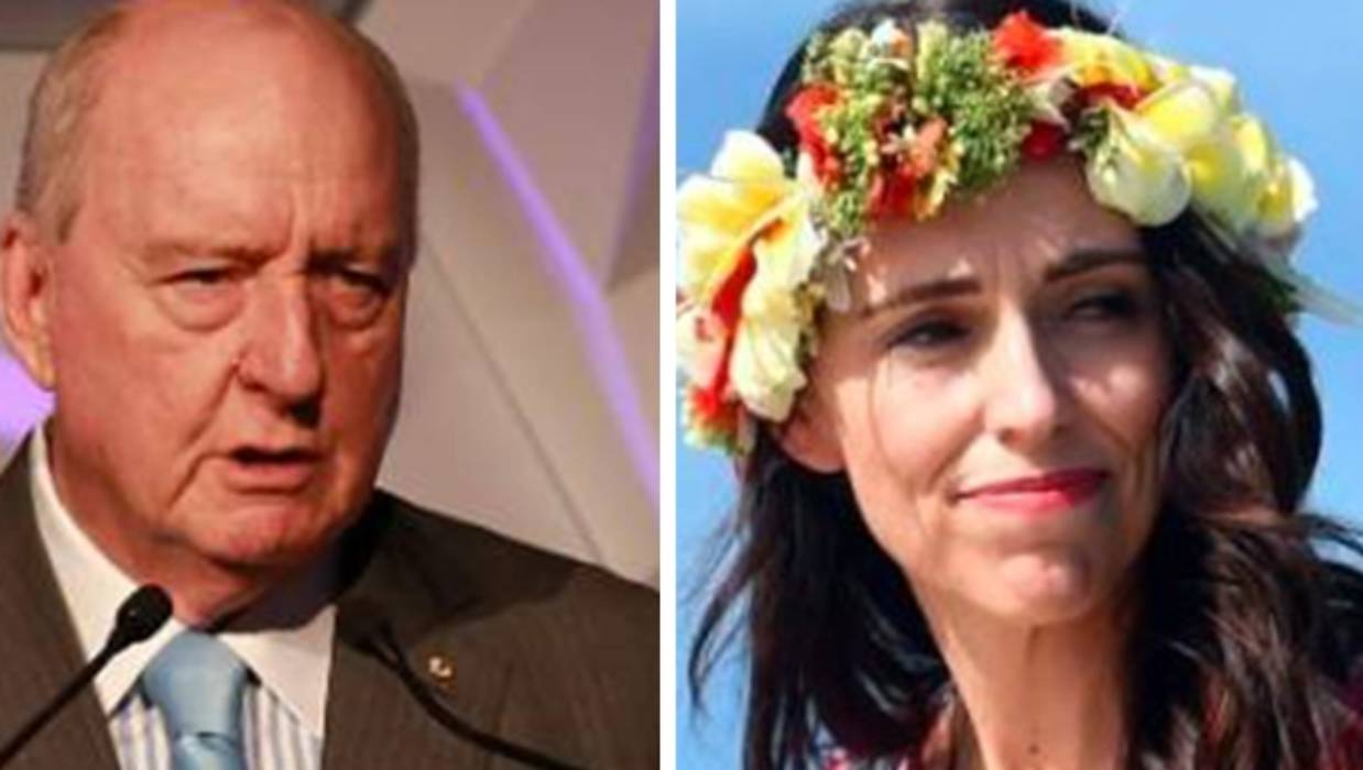"Alan Jones has stepped up his criticism of PM Jacinda Ardern, labelling her ""gormless"" over her climate change policy. — Photographs: Getty Images."