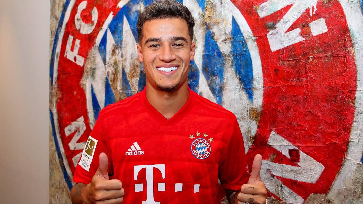 Bayern Munich confirm the loan signing of Brazilian international Philippe Coutinho
