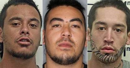 Te Wera Hemara and Emmanuel Witana (centre and right) are still at large.