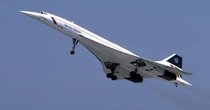 A British Airways Concorde pictured in 1986.