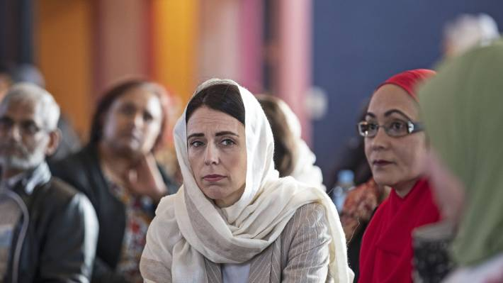 Jacinda Ardern at the 29th Annual National Conference of Islamic Women's Council of New Zealand in Mangere.
