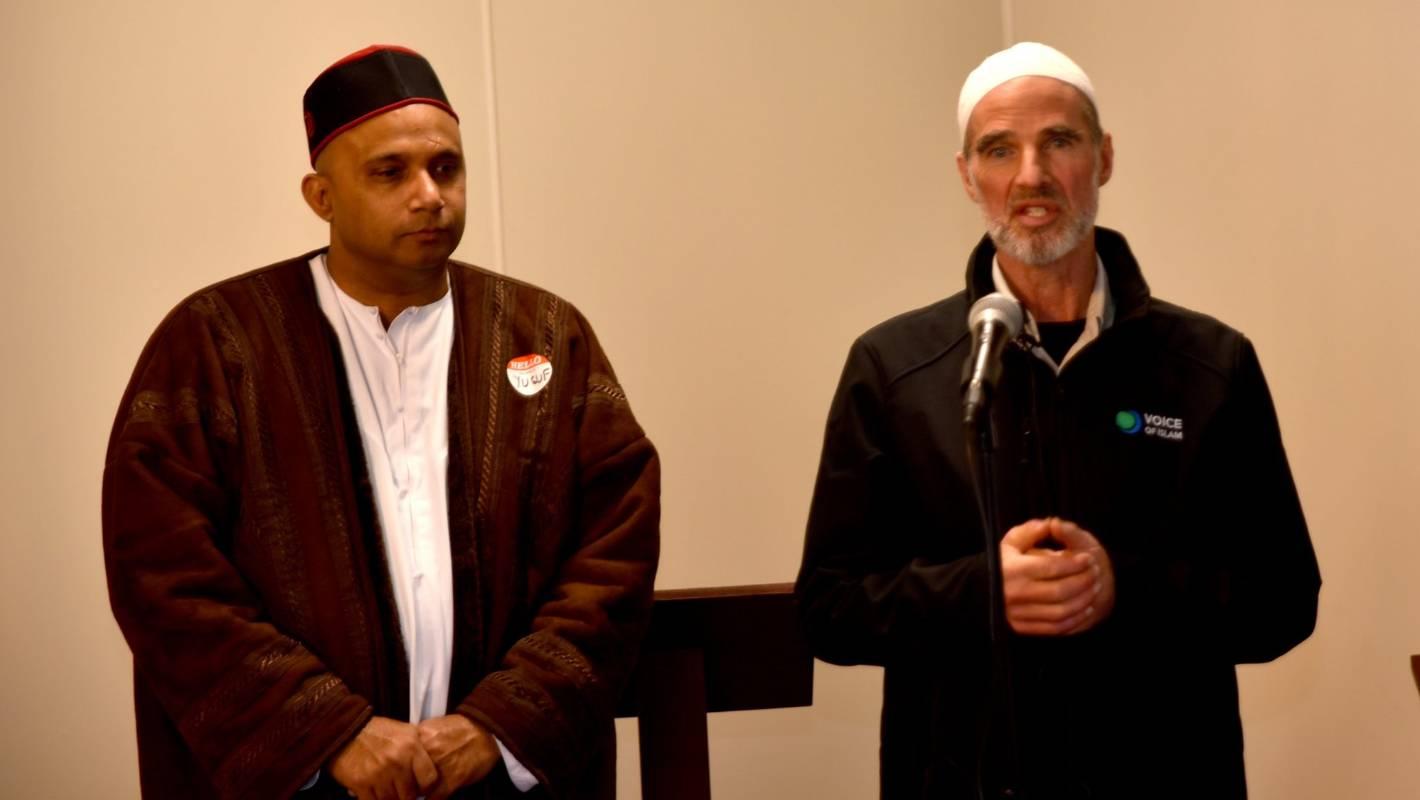 Yusuf Khan with Omar Thompson, talking about Islam.