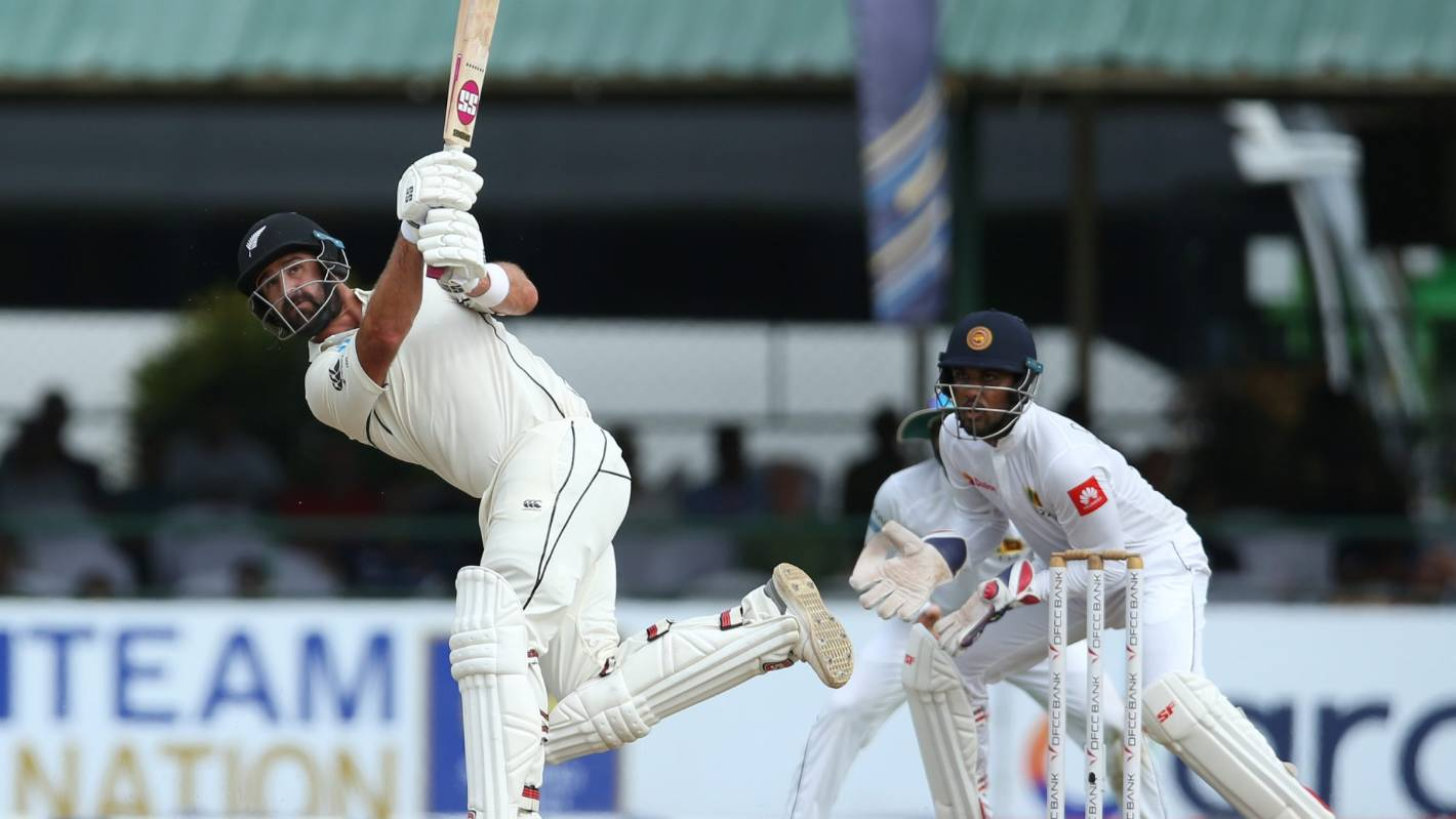 Black Caps v Sri Lanka: Late onslaught sets up chance for victory charge