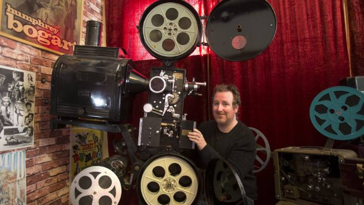 Geraldine Cinema owner adds to classic projector collection