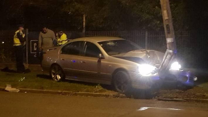 Alleged drink-driver blames gang for making him crash into
