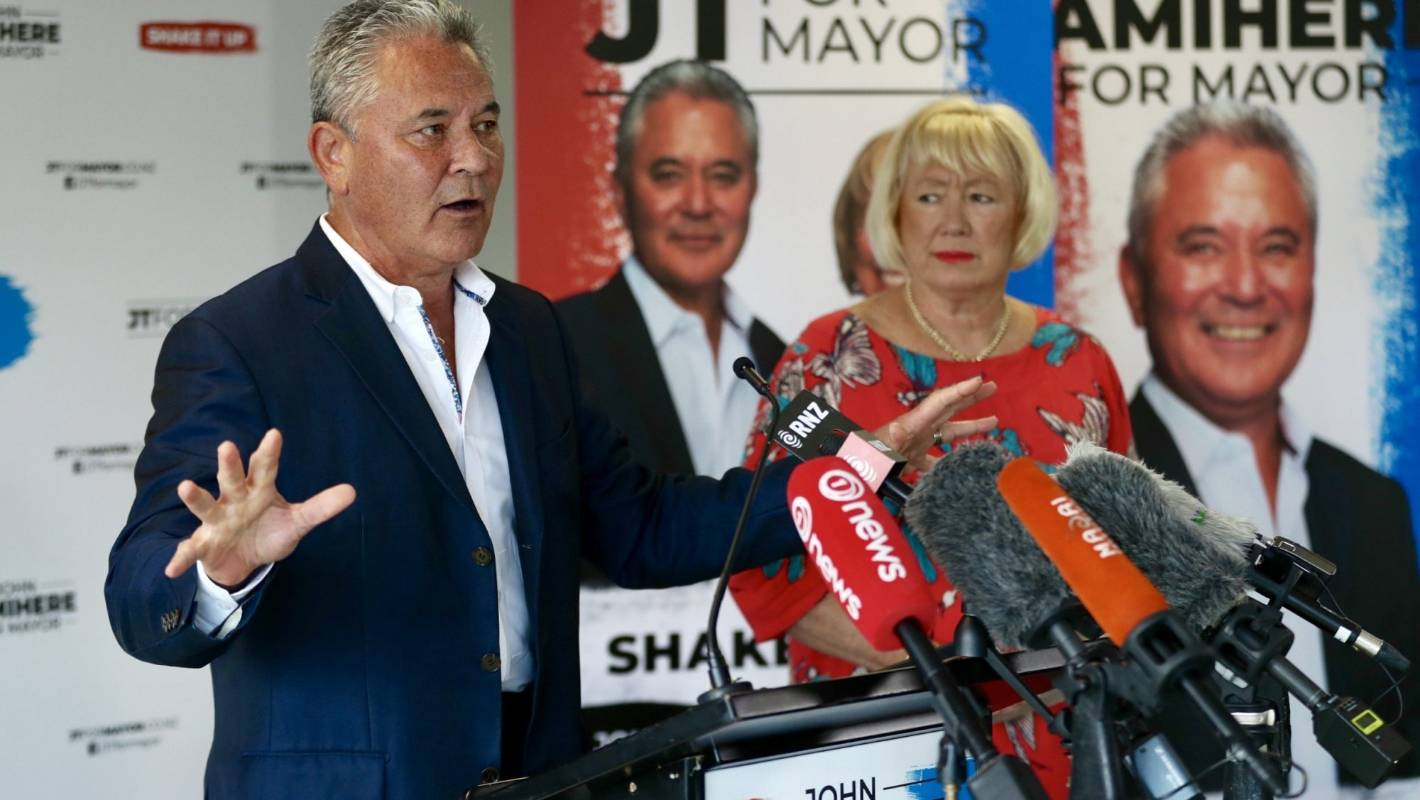Auckland mayoral election: Christine Fletcher quiet as running mate drops policy bombshells