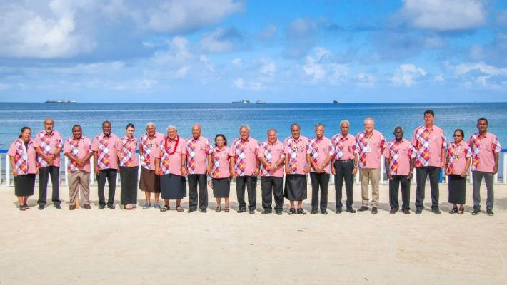 Pacific leaders attend the 50th Pacific Islands Forum held in Funafuti, Tuvalu.