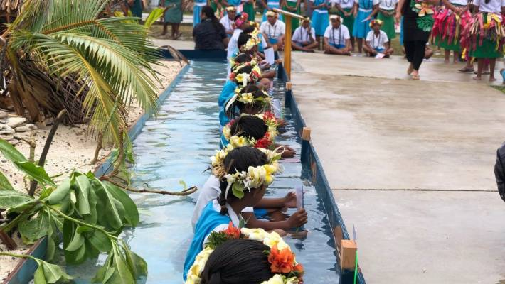 It was indeed an emotional moment when Pacific Leaders and delegates were greeted by small children of Tuvalu, says Meg Taylor.