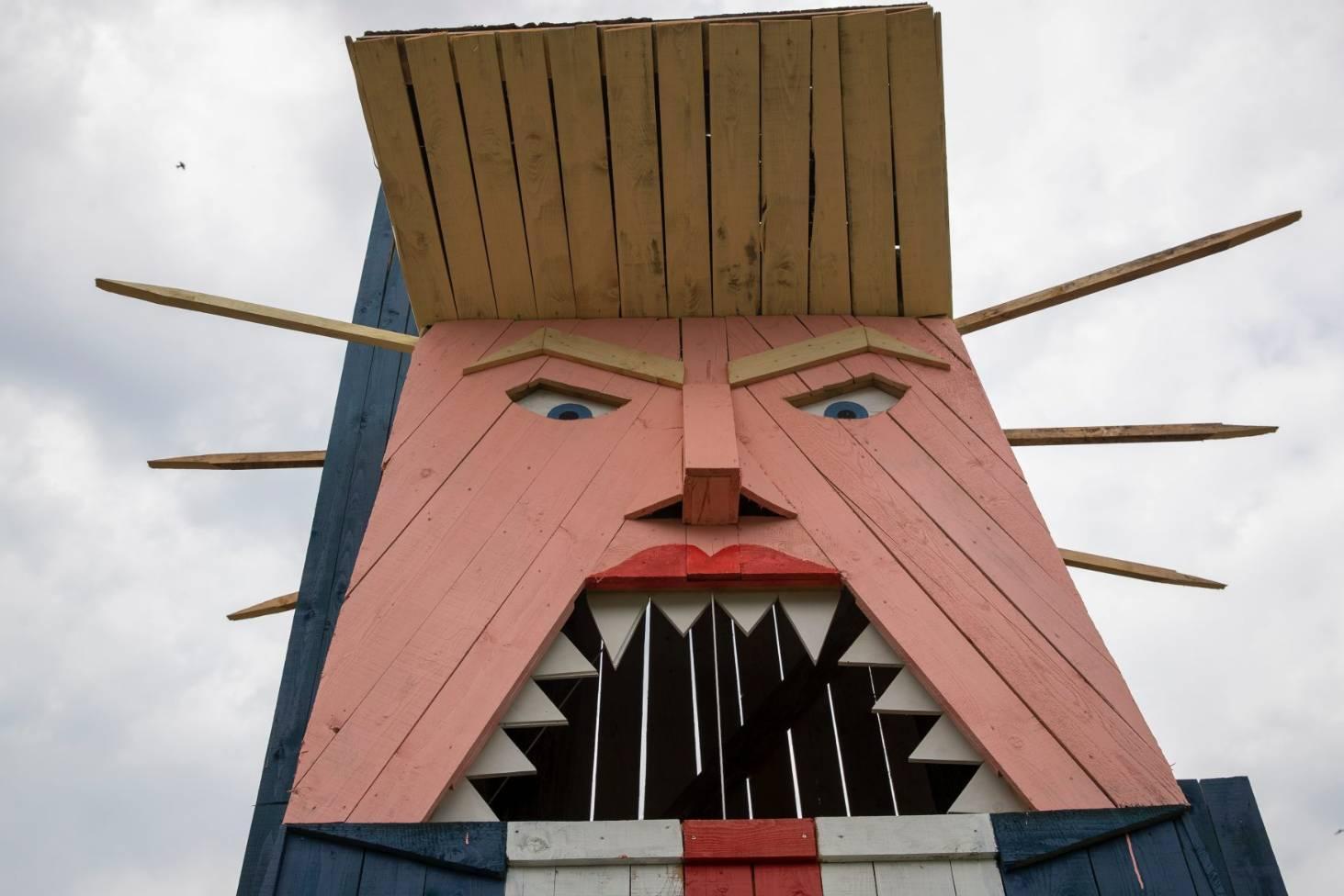 Donald Trump Gets Strange Statue In Melania S Homeland Of Slovenia Stuff Co Nz