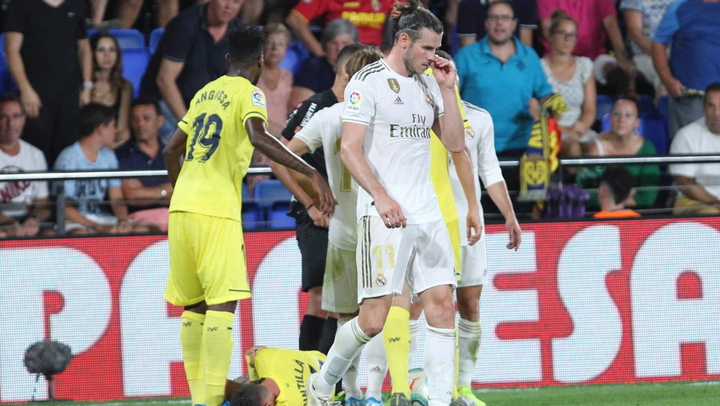 on sale 22719 7079a Gareth Bale scores twice then sees red as Real Madrid held ...