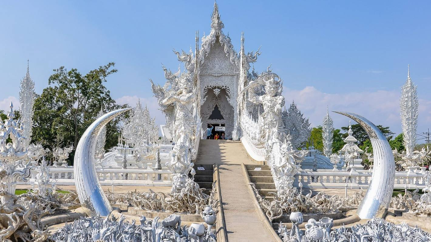 The White Temple and the Black House are among Thailand's