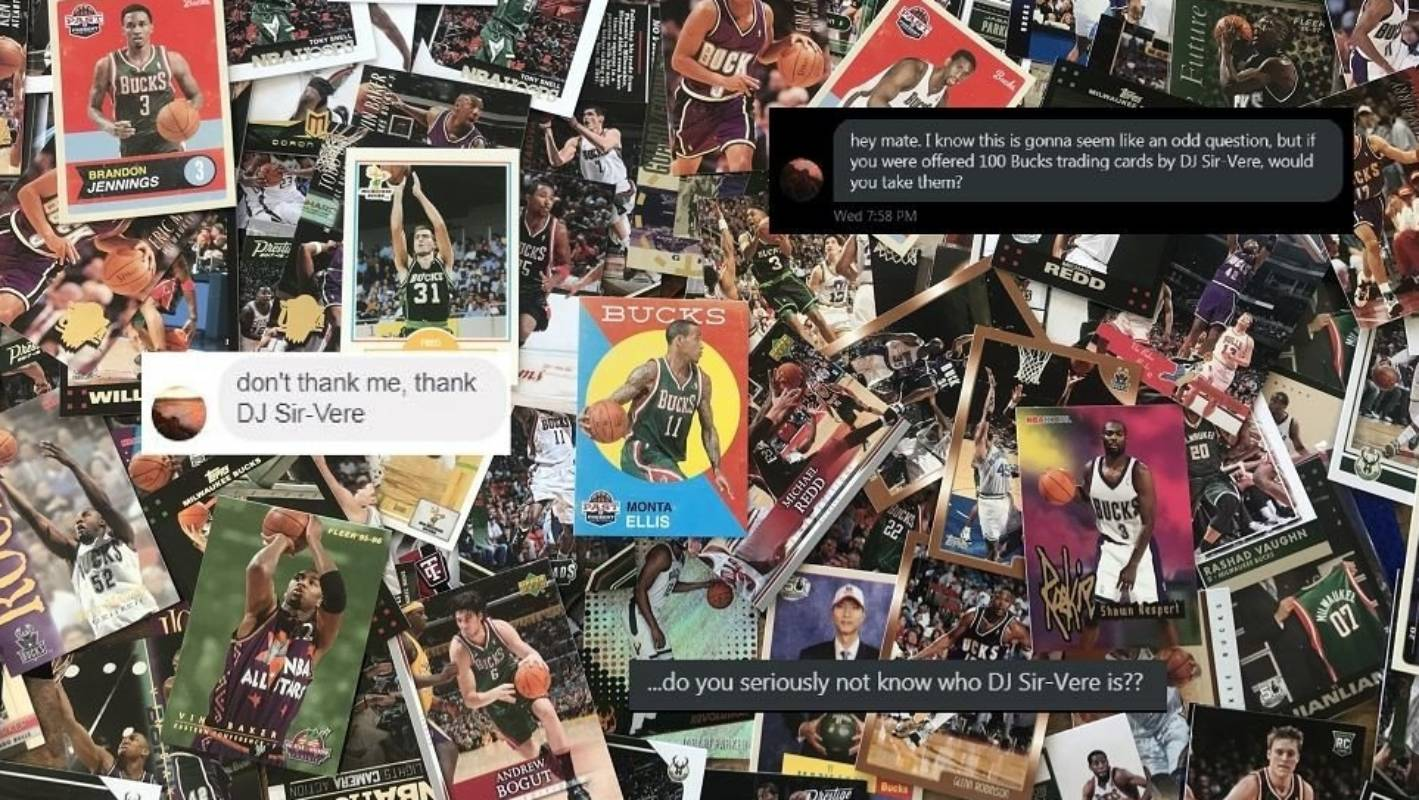 A love letter to generous hip hop king DJ Sir-Vere, for rocking his NBA cards out to unworthy me