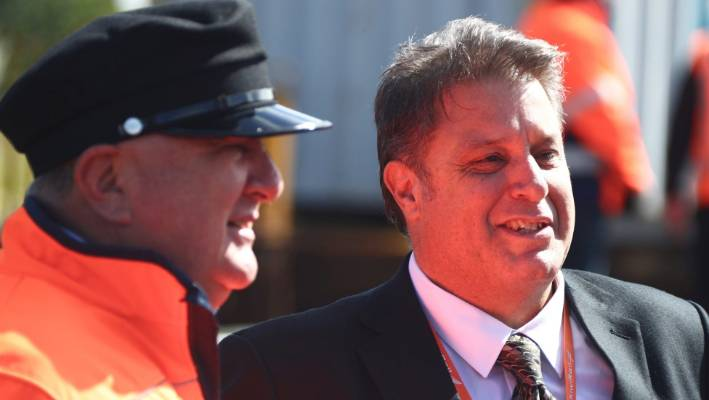 Regional Economic Development Minister Shane Jones and KiwiRail Group Chief Executive Greg Miller announce funding to maintain the Northland to Auckland rail line.