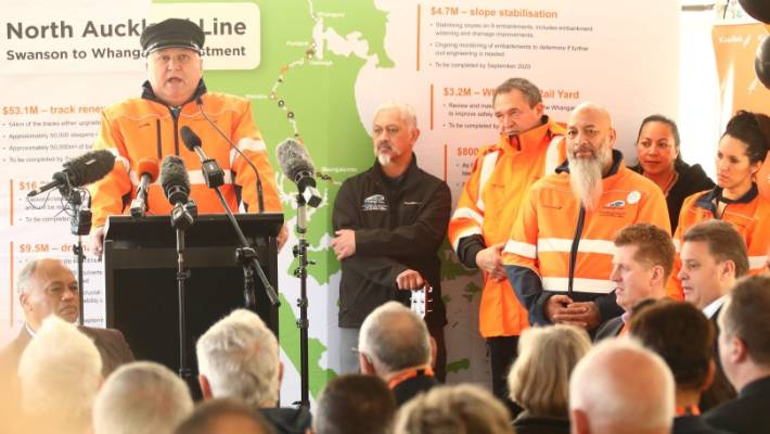 Regional Economic Development Minister Shane Jones says the $94.8m rail investment will help improve freight services on the line and have direct benefits for Northland's economy.