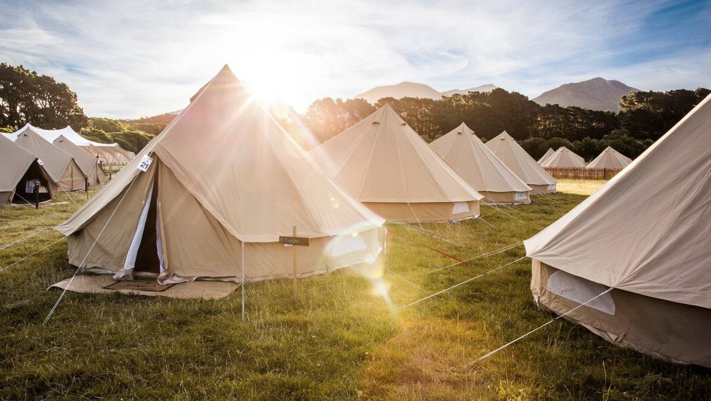 Glamping the latest drawcard at the New Zealand Sevens