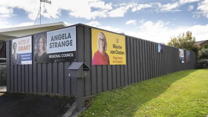 Labour MP Jamie Strange breaks election sign rules   Stuff co nz