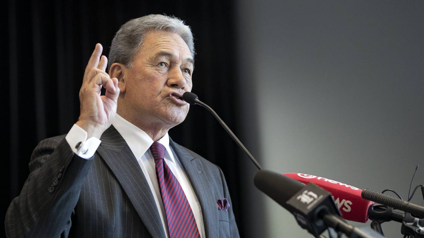 Winston Peters says New Zealand GDP growth will be down